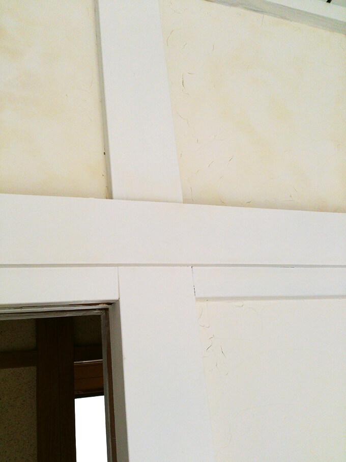 DIYでせっかく塗った漆喰の白が変色