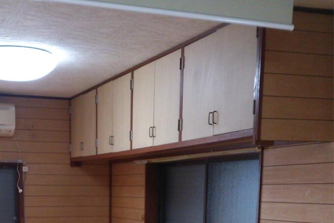 天井に据置の棚をDIYリフォーム ビフォー