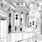 マンガ背景素材 イギリス ロンドン 地下鉄