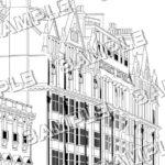 マンガ背景素材 イギリス ロンドン アパートメント