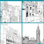 マンガ背景素材 イギリス ロンドン セット
