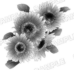 マンガ背景素材 ひまわり 花 植物