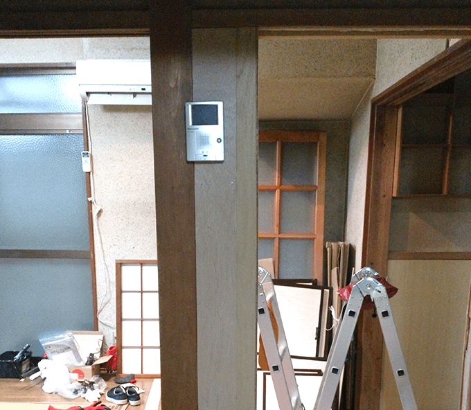 キッチンDIY大作戦 インターフォン