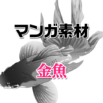 マンガ背景素材 金魚
